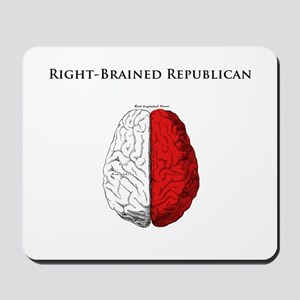 Right-Brained Republican Mousepad