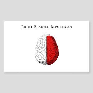 Right-Brained Republican Rectangle Sticker