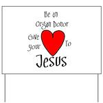 Jesus Heart Yard Sign