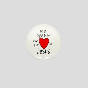 Jesus Heart Mini Button