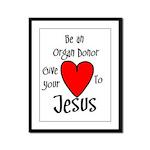 Jesus Heart Framed Panel Print