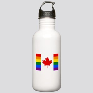 Canada Pride Rainbow F Stainless Water Bottle 1.0L