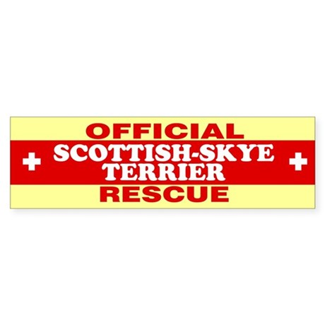 SCOTTISH-SKYE TERRIER Bumper Sticker
