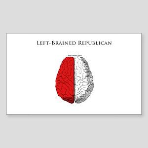 Left-Brained Republican Rectangle Sticker