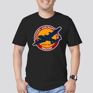 Lancaster Flight Test Men's Fitted T-Shirt (dark)