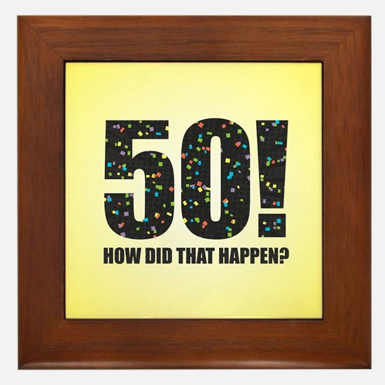 50th Birthday Framed Tile