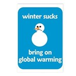 Winter Sucks - bring on globa Postcards (Package o