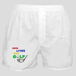 Kaya Lives for Golf - Boxer Shorts