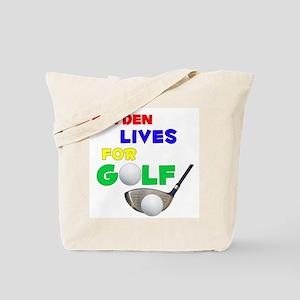 Kayden Lives for Golf - Tote Bag