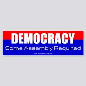 """Democracy"" Bumper Sticker"