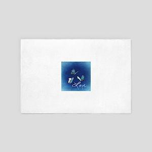 Love & Butterflies (Blue) 4' x 6' Rug