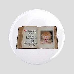 """Lion's Roar 3.5"""" Button"""