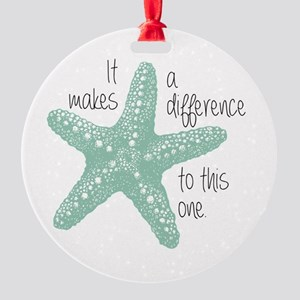 Makes A Difference Round Ornament