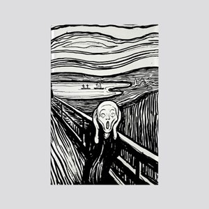 Munch's Scream Lithograph Rectangle Magnet