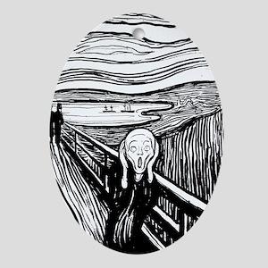 Munch's Scream Lithograph Oval Ornament