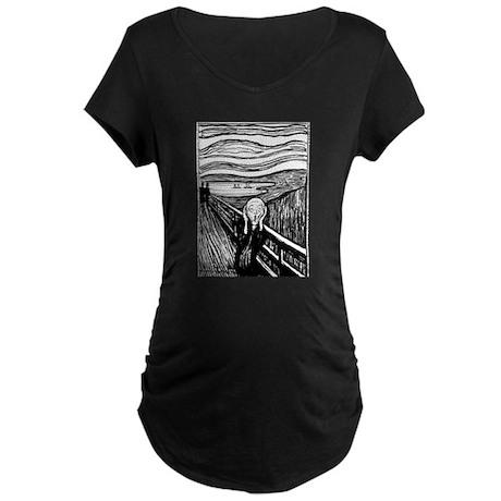 Munch's Scream Lithograph Maternity Dark T-Shirt