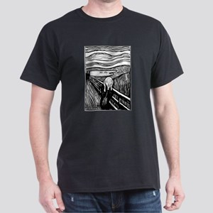 Munch's Scream Lithograph Dark T-Shirt