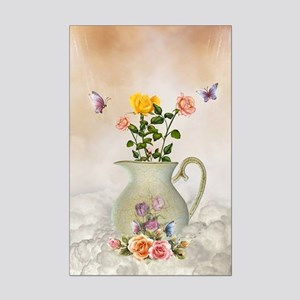 Butterflies and Roses Mini Poster Print