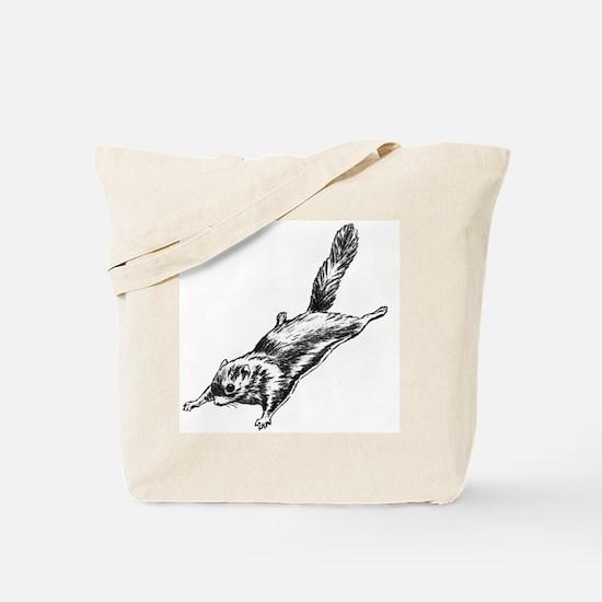 Flying Squirrel Illustration  Tote Bag