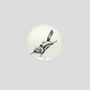 Flying Squirrel Illustration Mini Button