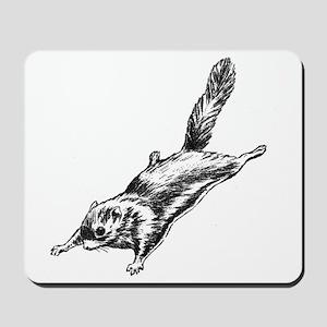 Flying Squirrel Illustration  Mousepad