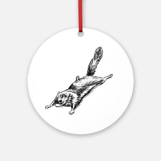 Flying Squirrel Illustration  Ornament (Round)