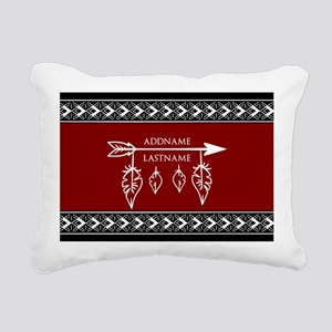 Custom Monogram Boho Eth Rectangular Canvas Pillow