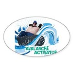 Avalanche Activator Oval Sticker