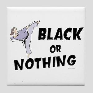 Black Or Nothing 1 (Female) Tile Coaster