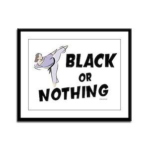 Black Or Nothing 1 (Female) Framed Panel Print