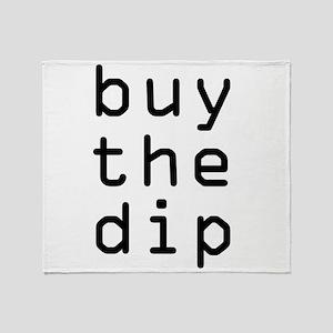 Buy The Dip Bitcoin Crypto Throw Blanket