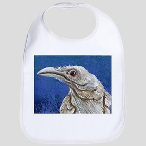 White Raven Crow Bird Bib