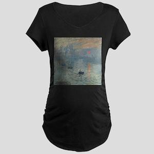 Claude Monet Impression Soleil Levant Maternity T-