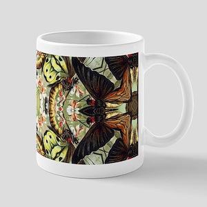 botanical bohemian floral butterfly Mugs