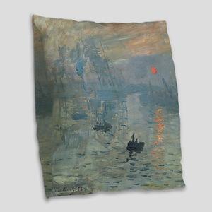 Claude Monet Impression Soleil Levant Burlap Throw