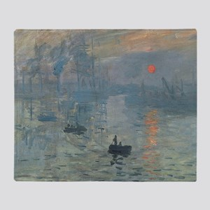 Claude Monet Impression Soleil Levant Throw Blanke