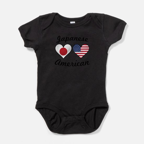 Japanese American Flag Hearts Body Suit