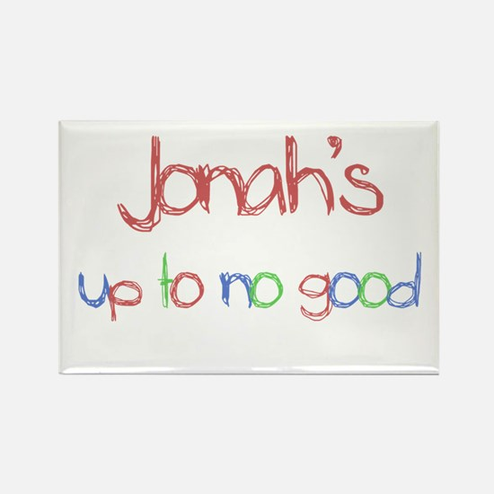 Jonah's Up To No Good Rectangle Magnet