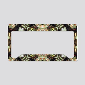botanical bohemian floral but License Plate Holder