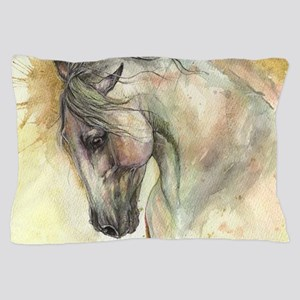 Horse on yellow background Pillow Case