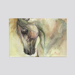 Horse on yellow background Magnets