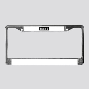 Hodl Cryptocurrency Crypto Bit License Plate Frame