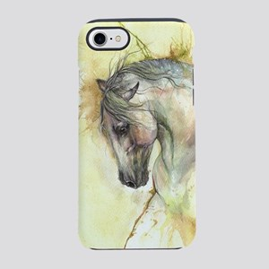 Horse on yellow background iPhone 8/7 Tough Case