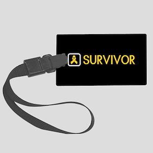 Childhood Cancer Survivor Large Luggage Tag