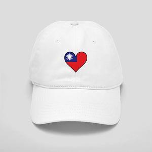 Taiwanese Flag Heart Baseball Cap