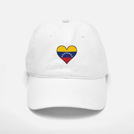 Venezuelan Flag Heart Baseball Baseball Baseball Cap