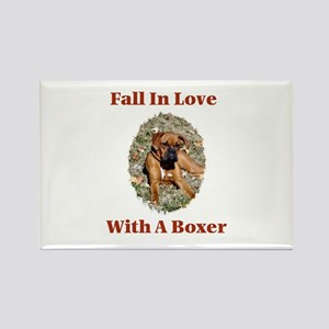 Boxer - Fall In Love Rectangle Magnet