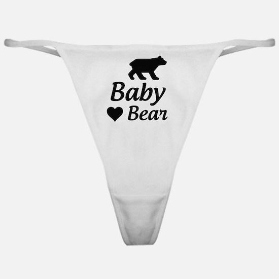 Cute Baby bear Classic Thong