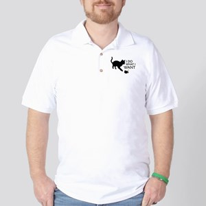 Do What I Want Cat Golf Shirt