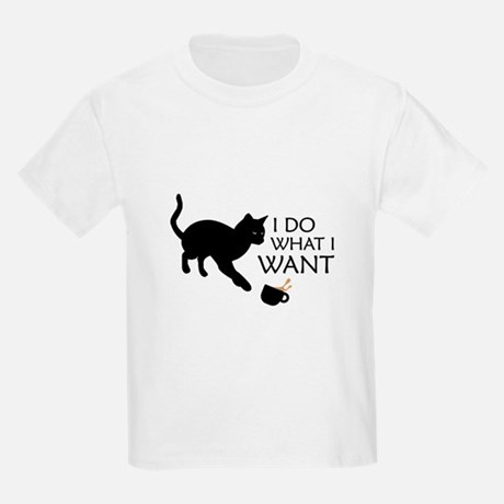 Cat I Do What I Want Kid's Classic T-Shirt